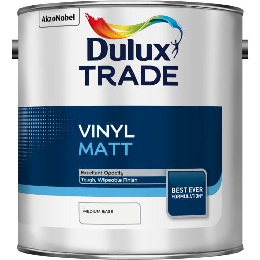 Dulux Trade Vinyl Matt Paint 2.5L Medium Base