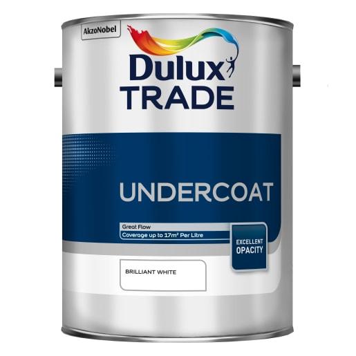 Dulux Trade Undercoat Paint 5L Brilliant White