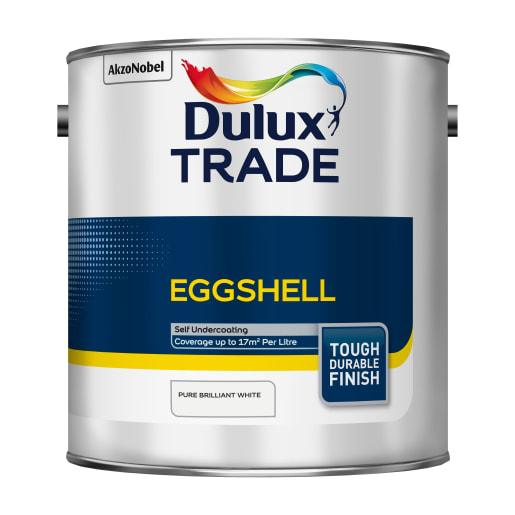 Dulux Trade Eggshell Paint 2.5L Pure Brilliant White