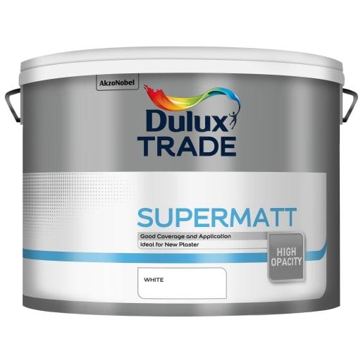Dulux Trade Supermatt Paint 10L White