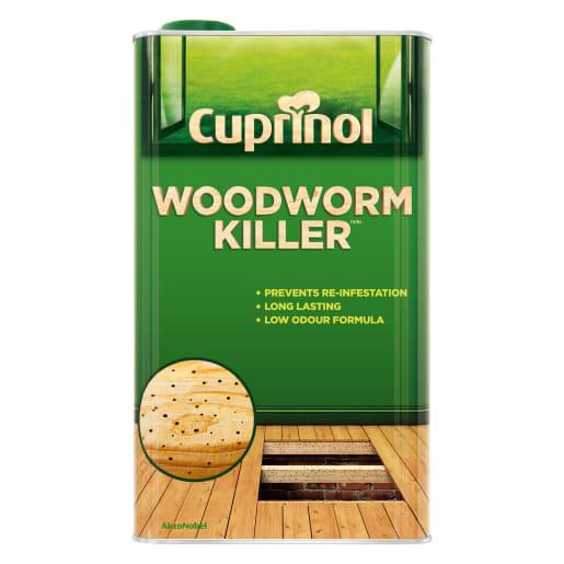 Cuprinol Woodworm Killer Low Odour Water Based 5L Clear