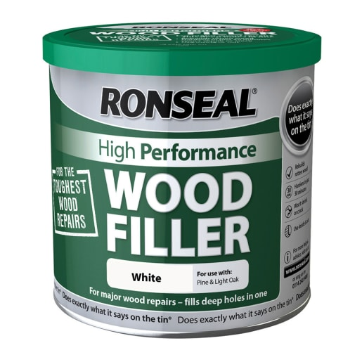 Ronseal High Performance Wood Filler 550g White