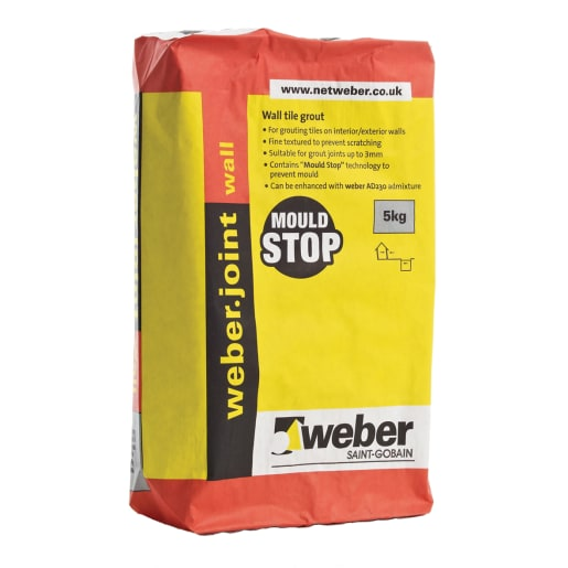 Weber Wall Tile Grout Grout 5kg White