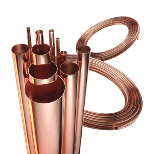 Wednesbury Table x Copper Tube 3m x 28mm Brass Coloured