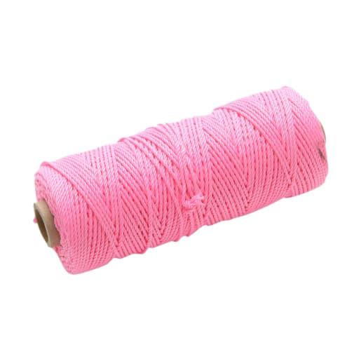 Faithfull Hi-Vis Nylon Brick Line 105m Pink