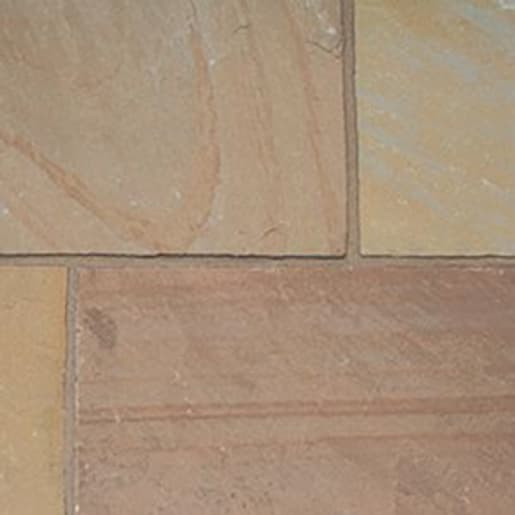 ClassicStone 600 Series Calibrated Limestone Paving Pack Autumn Brown