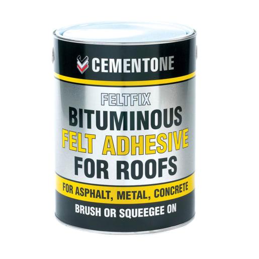 Bostik Bituminous Felt Adhesive for Roofs 5.0L Black