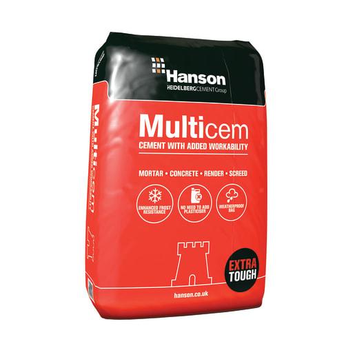 Hanson Multicem Cement Plastic Bag 25kg
