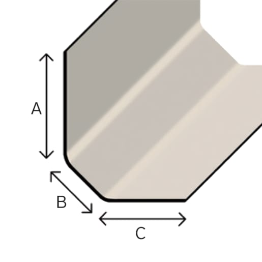 TuffStuff D260 Angle Fillet 3M Grey