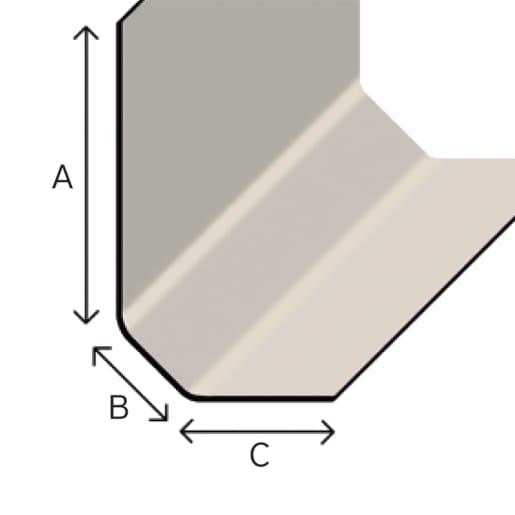 TuffStuff D300 Angle Fillet Long Leg 3M Grey