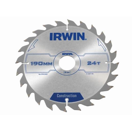 Irwin 40T Circular Saw Blade 190mm