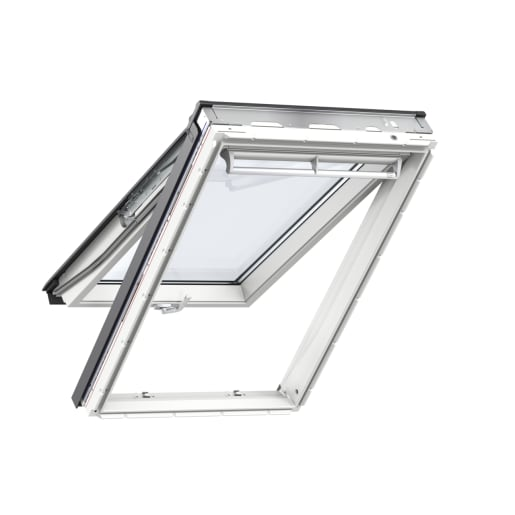 VELUX GPU FK06 0070 White Poly. Top Hung Roof Window 66 x 118cm