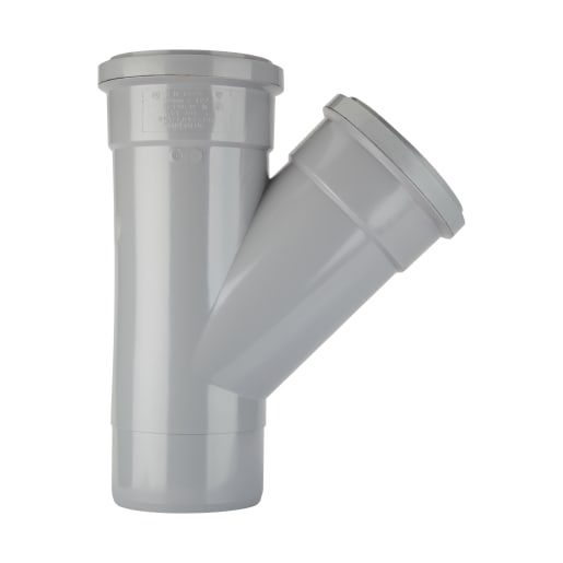 Polypipe Soil 135° Equal Branch Double Socket Grey