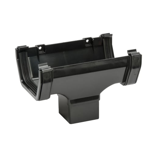 Polypipe Square Running Outlet Gutter 112mm Black