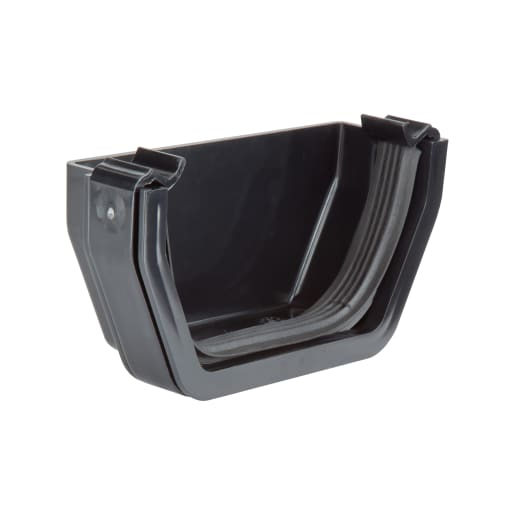 Polypipe Rainwater Square External Stop End 112mm Black