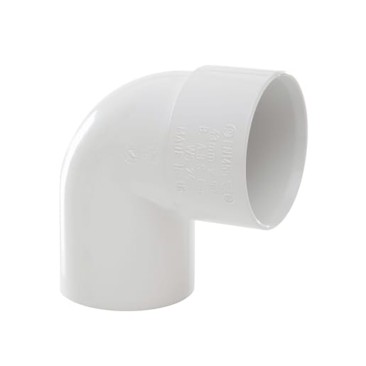 Polypipe Solvent Weld Waste 32mm Swivel Bend 92.5° White