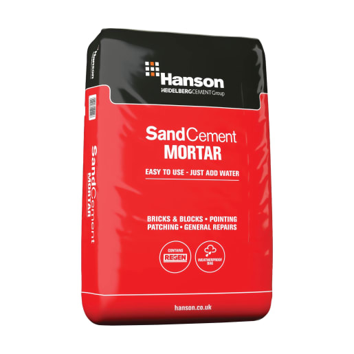 Hanson Sand Cement Mortar Plastic Handy Bag 20kg