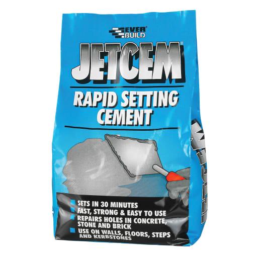 Everbuild Jetcem Rapid Set Cement 3kg Grey