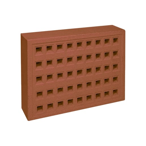 Red Bank Square Hole Air Brick 215 x 215 x 50mm Red