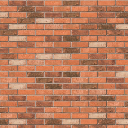 Ibstock Ivanhoe Westminster Brick 65mm Red Multi