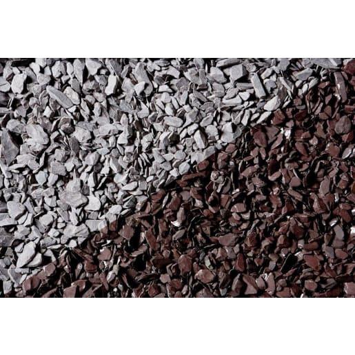 Decorative 40mm Stone Chippings Handy Bag 25kg Plum Slate