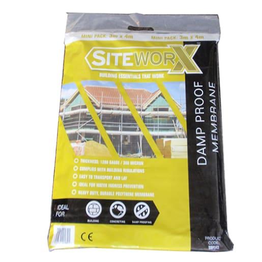 Siteworx Damp Proof Membrane 5 x 4m Black