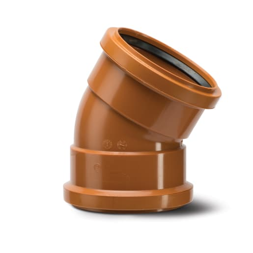 Polypipe Drain 30° Double Socket Bend 160mm Terracotta