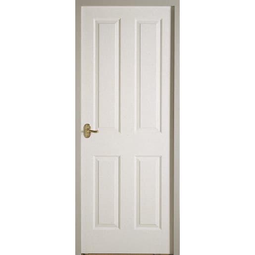 Premdor Interior 4 Panel Textured Door 1981 x 610 x 35mm White