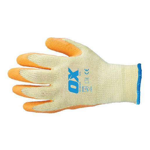 Ox Latex Grip Glove Size 9 (Large) Orange