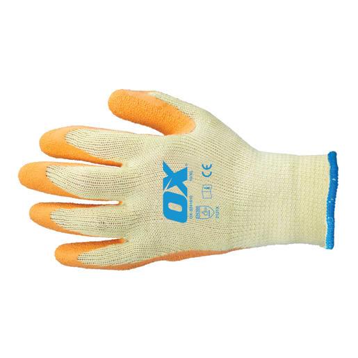 Ox Latex Grip Gloves Size 10 XL (X-Large) Orange