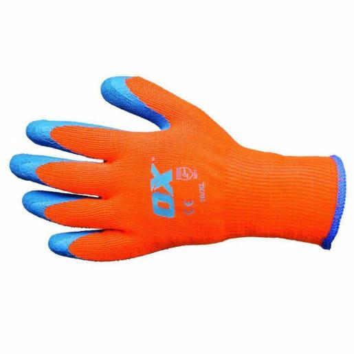 Ox Thermal Grip Gloves Size 10 (X-Large) Orange / Blue