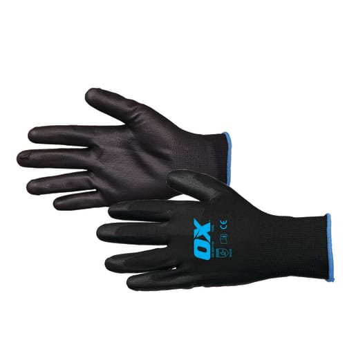 Ox PU Flex Gloves Size 10 XL Black
