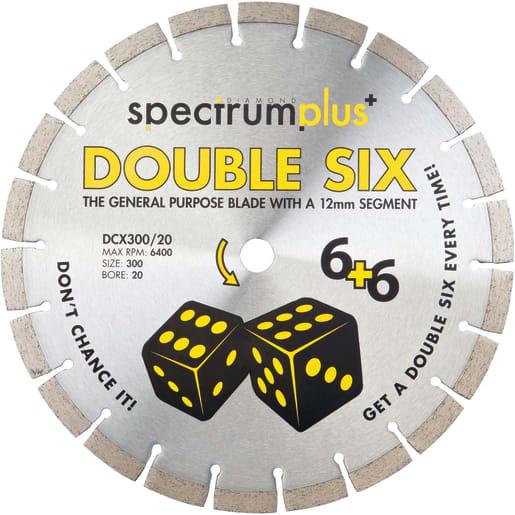 Ox Spectrum Plus DCX Double Six Trade Diamond Blade 300 x 20mm