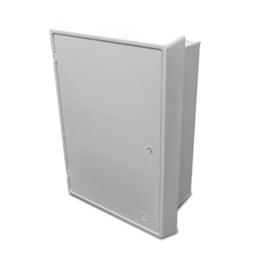 Mitras Electric Recessed Meter Box 595 x 409 x 210mm White