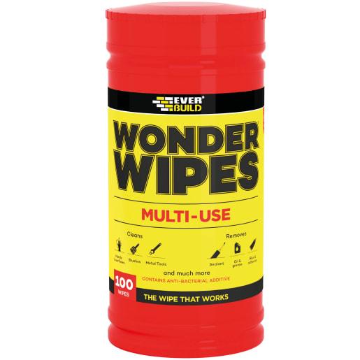 Everbuild Antibacterial Wonder Wipes Pack of 100