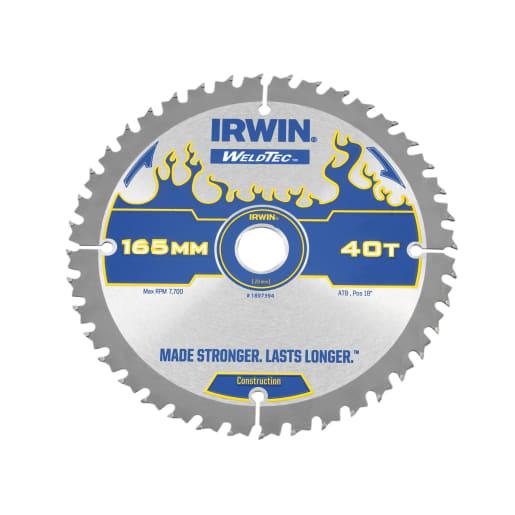 Irwin 40T Weldtec Cordless Circular Saw Blade 165mm