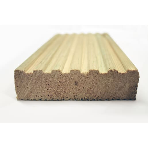 Redwood Treated Decking PEFC 3000 x 125 x 38mm (Act Size 117.5 x 32)