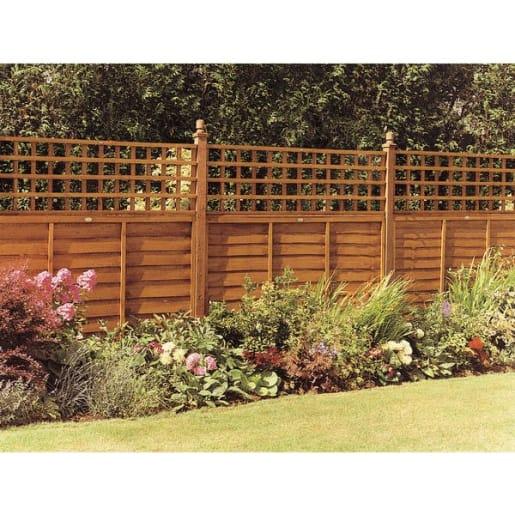 Grange Fencing Heavy Duty Square Trellis 120 x 182.8 x 3cm Brown