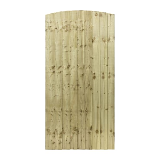 Grange Fencing Arched Feather Edged Gate 180 x 90 x 6.2cm Natural