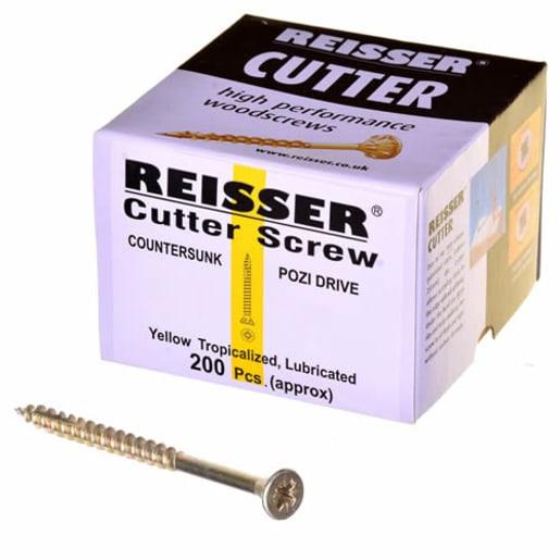 Reisser Cutter Pozi Full Thread Woodscrews 4 x 35mm Pack of 200