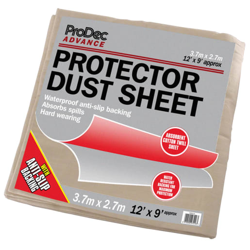 ProDec Advance Protector Dust Absorbent Cotton Dust Sheet 3.7 x 2.7m