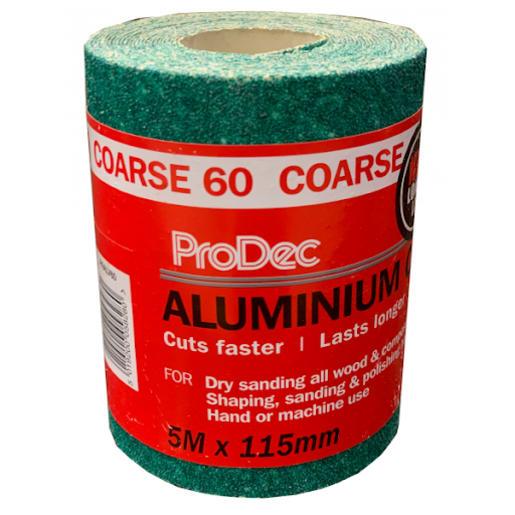 ProDec 60 Grit Aluminium Oxide Sandpaper 5m x 115mm Green