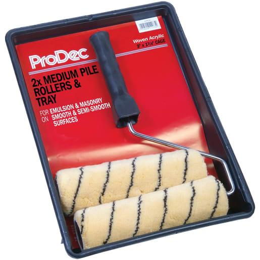 ProDec Tiger Medium Woven Twin Roller Kit 9