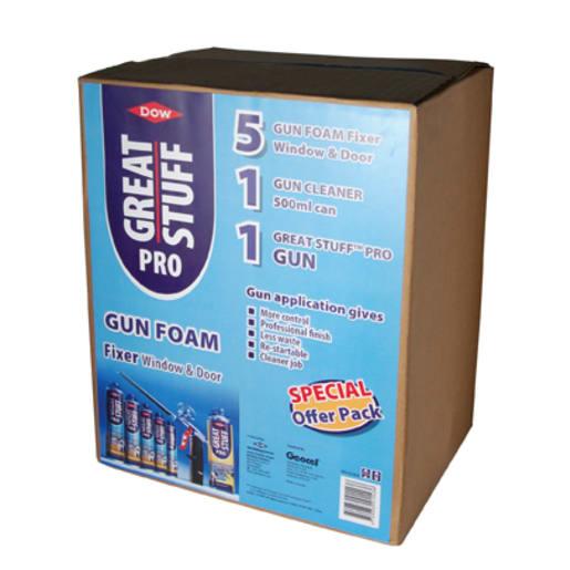 Dow Great Stuff 7 Piece Pro Gun Foam Fixer Window & Door Kit