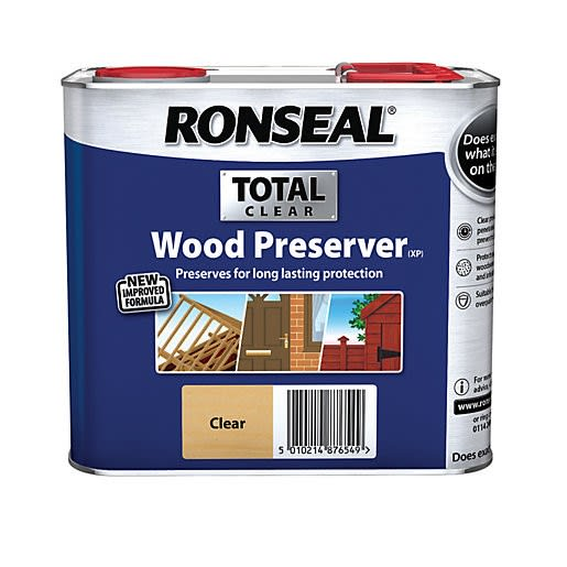 Ronseal Trade Total Wood Preserver 2.5L Clear