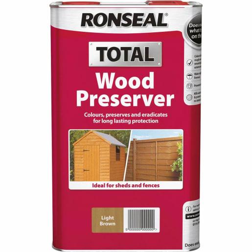 Ronseal Trade Total Wood Preserver 5L Dark Brown
