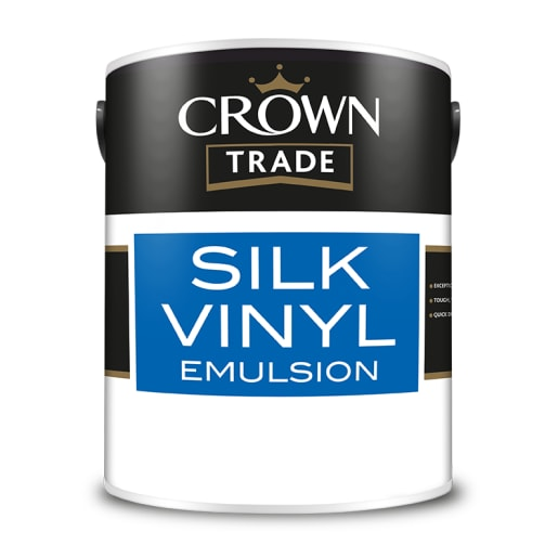 Crown Trade Silk Vinyl Emulsion Paint 5L White