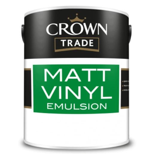 Crown Trade Matt Vinyl Emulsion Paint 5L Light Grey