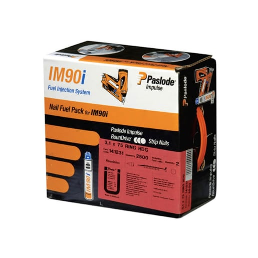 Paslode Smooth Galv Framing Nails 3.1 x 90mm Pack of 2200