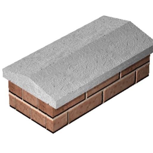 Supreme Concrete Twice Weathered Coping 610 x 305 x 70mm Grey
